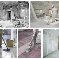 Уборка после ремонта; ehitusjärgne remont.